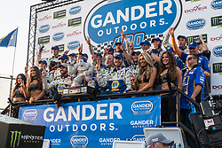 October 7, 2018 - Dover, DE, U.S. - DOVER, DE - OCTOBER 07: The #9 team of Chase Elliott celebrate in victory lane after Elliott piloted his #9 NAPA Auto Parts Chevrolet to the win in the Gander Outdoors 400 on October 07, 2018, at Dover International Speedway in Dover, DE. (Photo by David Hahn/Icon Sportswire) (Credit Image: © David Hahn/Icon SMI via ZUMA Press)