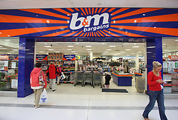 File photo dated 14/8/2009 of a B&M store in Ballymena, Co Antrim. Shares in the retailer rose sharply on Monday following weekend reports that supermarket giant Asda is mulling over a £4.4 billion takeover of the discount retailer.