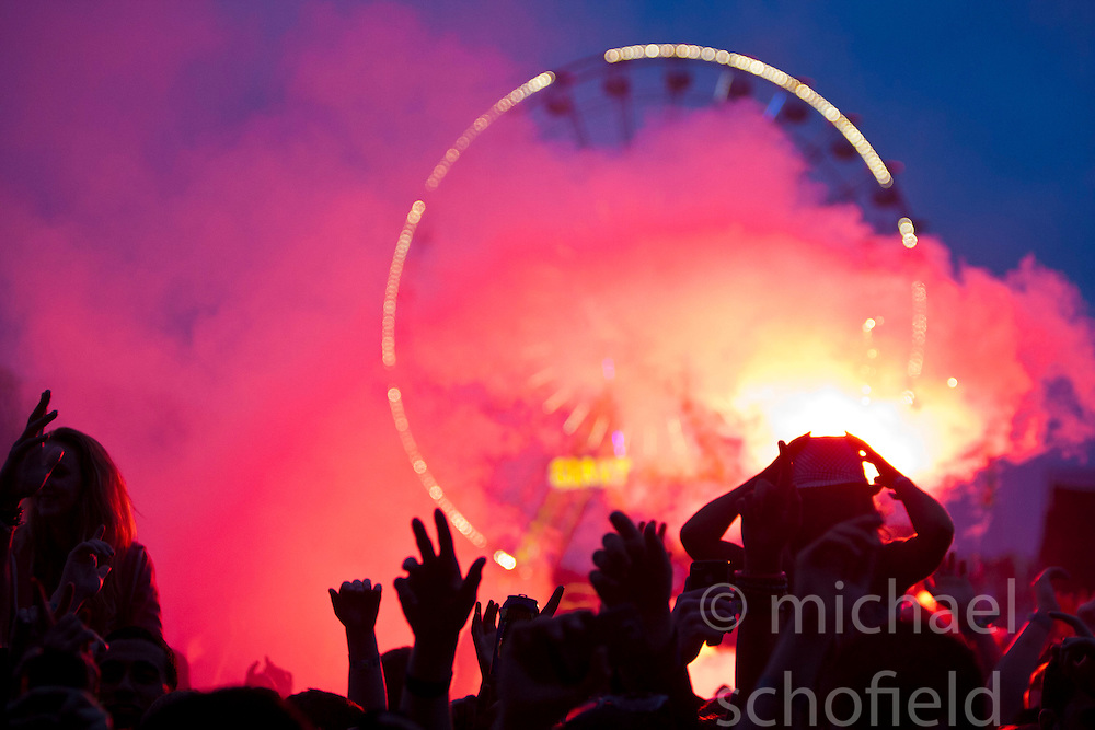 Deadmau5 headline Saturday night on the main stage..Saturday at Rockness 2012..©Michael Schofield..