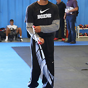 ORLANDO, FL - Felix Verdejo jumps rope in the gym during a media day workout at the Orlando Sports Martial Arts Academy on October 2, 2014 in Orlando, Florida. (Photo by Alex Menendez/Getty Images) *** Local Caption *** Felix Verdejo