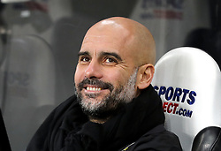 Manchester City manager Pep Guardiola prior to the Premier League match at St James' Park, Newcastle.