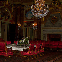Dining room at Marble Mansion, Newport, Rhode Island