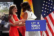 Queen Letizia of Spain, Michelle Obama attended 'Let Girls Learn' initiative, at Matadero on June 30, 2016 in Madrid