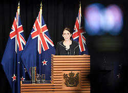 March 16, 2019 - Wellington, New Zealand - New Zealand Prime Minister JACINDA ARDERN addresses a briefing in the capital of New Zealand. She reiterated to the public Saturday morning that the country's gun law will be changed. Gunmen opened fire in two separate mosques in Christchurch of New Zealand on Friday, killing 49 people and wounding 48 others. (Credit Image: © Xinhua via ZUMA Wire)
