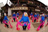 Cultural performance, Zhouzhuang, China