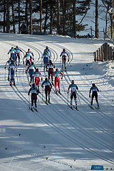 February 25, 2018 - Pyeongchang, South Korea - Olympic athletes compete in the Ladies Cross Country Skiing Mass Start 30k at the PyeongChang 2018 Winter Olympic Games at Alpensia Cross-Country Skiing Centre on Sunday February 25, 2018. (Credit Image: © Paul Kitagaki Jr. via ZUMA Wire)