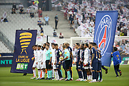 Teams presentation before the French Ligue Cup final match between Paris Saint-Germain (PSG) and Olympique Lyonnais (OL, Lyon) on July 31, 2020 at the Stade de France, in Saint-Denis, near Paris, France - Photo Juan Soliz / ProSportsImages / DPPI