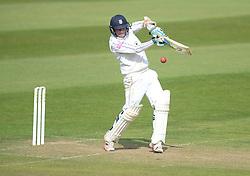 Hamshire's Liam Dawson hits the ball. - Mandatory byline: Alex James/JMP - 07966386802 - 09/09/2015 - FOOTBALL -  - The County Ground - Taunton  - Somerset v Hampshire - LV CC -