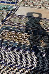 Cemetery near Borj Sud overlooking Fes al Bali medina, Fes, Morocco
