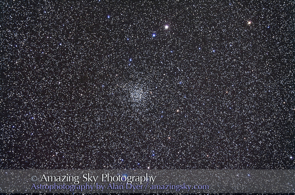 NGC 7789 open cluster in Cassiopeia. Taken Nov 2, 2010 with 105mm A&M apo refractor at f/5 with Borg .85x flattener/reducer and Canon 5DMkII at ISO 800 for stack of 5 x 10 minute exposures, Mean combined. Used Celestron CGEM mount and Celestron NexGuide on William Optics 66mm guidescope. All seemed to work well.