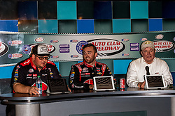 FONTANA, CA - MAR 19 XFINITY series driver Austin Dillon scored his seventh career XFINITY series victory after Kyle Busch blew a tire on the final lap, giving Dillon a chance to make a dramatic pass to the checkered flag.  Los Angeles, USA. 2016 Mar 19. Byline, credit, TV usage, web usage or linkback must read SILVEXPHOTO.COM. Failure to byline correctly will incur double the agreed fee. Tel: +1 714 504 6870.