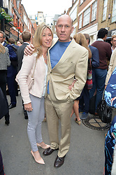 PEREGRINE & CAROLINE ARMSTRONG-JONES at a private view of work & workings of Nic Fiddian Green - The Studio held at Sladmore Contemporary, 32 Bruton Place, London on 9th June 2015.