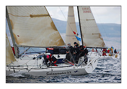 Brewin Dolphin Scottish Series 2010, Tarbert Loch Fyne - Yachting..Day one stated late but resulted in good conditions on Loch Fyne..GBR1433R ,Salamander XX ,John Corson ,CCC ,Corby 33...