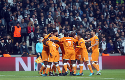 November 21, 2017 - Porto players celebrate their goal with his teammates during Besiktas - Porto UEFA Champions Leaguematch in Vodafone Arena, Istanbul, Turkey, November 21, 2017. (Credit Image: © Tolga Adanali/Depo Photos via ZUMA Wire)
