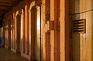 House doors at sunset in Vinales, Pinar del Rio, Cuba.