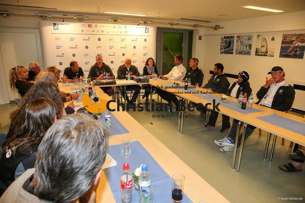 , Kiel - Kieler Woche 20. - 28.06.2015, Pressekonferenz 20.06.2015