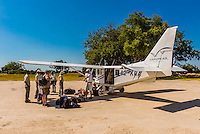Landing strip, Kwara Camp, Okavango Delta, Botswana.