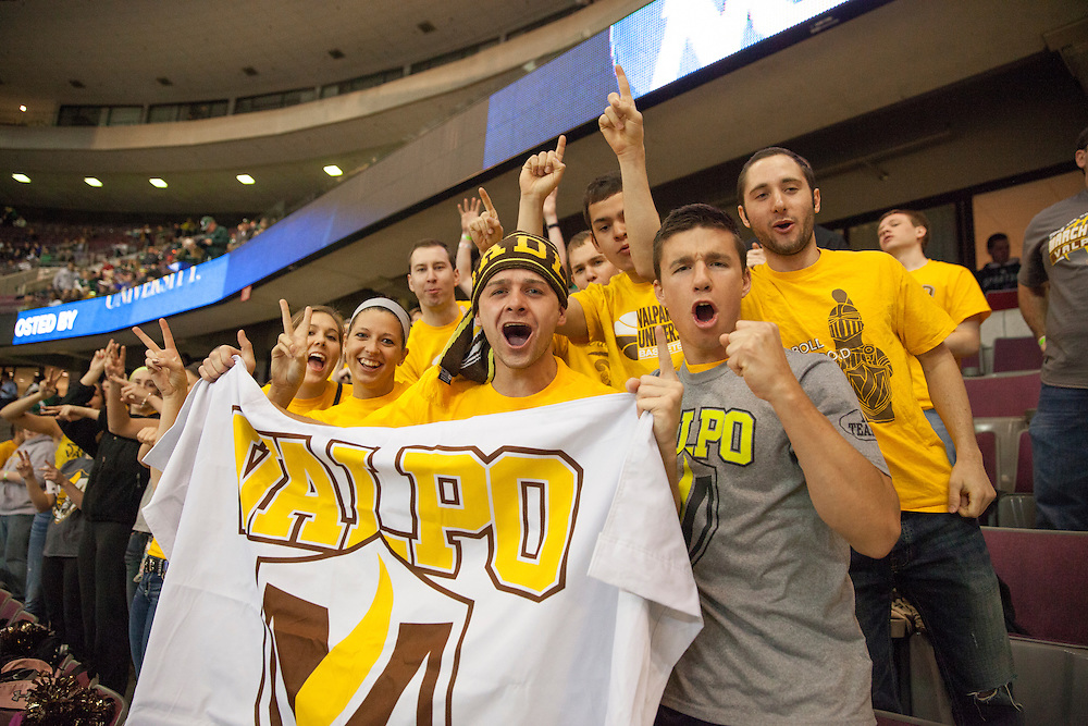 Valparaiso University plays Michigan State in the first-round of the NCAA tournament, Thursday, March 21st, 2013.