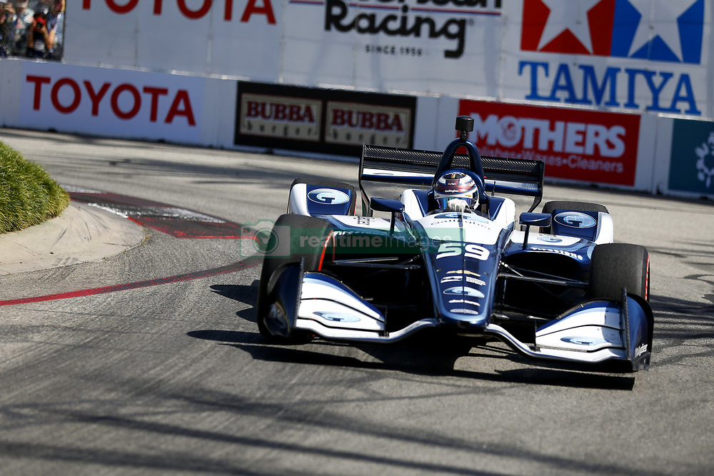 April 13, 2018 - Long Beach, California, United States of America - April 13, 2018 - Long Beach, California, USA: Max Chilton (59) takes to the track to practice for the Toyota Grand Prix of Long Beach at Streets of Long Beach in Long Beach, California. (Credit Image: © Justin R. Noe Asp Inc/ASP via ZUMA Wire)