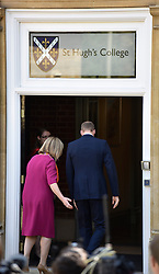 © London News Pictures. 08/09/2014<br /> Prince William, The Duke of Cambridge arriving at St Hugh's College, University of Oxford, on the day it was announced that he and his wife The Duchess of Cambridge are expecting their second child. Photo credit: Mark Hemsworth/LNP