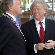 NLD/Utrecht/20050614 - Prinses Laurentien opent Civil Society congres, burgemeester Zeist Boekhoven en Commissaris van de Koninging Utrecht dhr. Boele Staal
