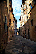 Narrow alley Colle di Val d'Elsa, Tuscany, Italy