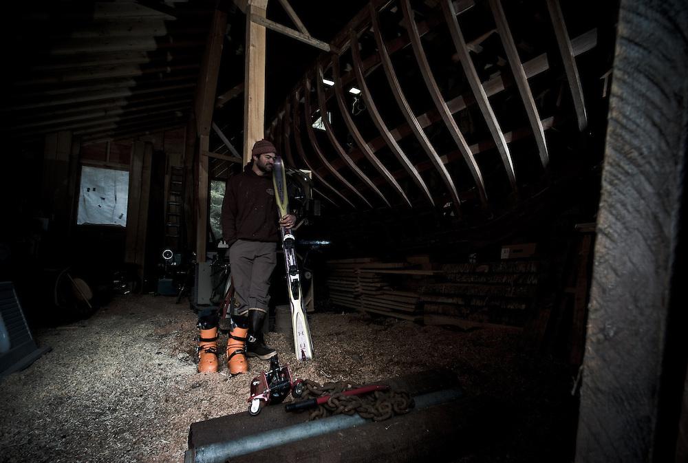 Ian Seward, boat builder & skier, Haines, Alaska.
