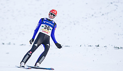 11.01.2014, Kulm, Bad Mitterndorf, AUT, FIS Ski Flug Weltcup, Bewerb, im Bild Andreas Wellinger (GER) // Andreas Wellinger (GER) during the FIS Ski Flying World Cup at the Kulm, Bad Mitterndorf, Austria on <br /> 2014/01/11, EXPA Pictures © 2014, PhotoCredit: EXPA/ JFK