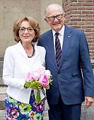 Prinses Margriet en Pieter van Vollenhoven bij afscheidscollege prof. dr. Keunen