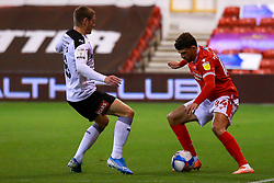 Nicholas Ioannou of Nottingham Forest looks to get past Ben Wiles of Rotherham United - Mandatory by-line: Ryan Crockett/JMP - 20/10/2020 - FOOTBALL - The City Ground - Nottingham, England - Nottingham Forest v Rotherham United - Sky Bet Championship