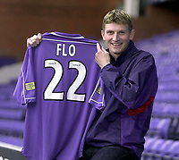 Tore Andre Flo signs for Rangers and traisn with squad for first time.<br />Pic Ian Stewart, November 23rd. 2000.<br />Torre Andre Flo at Ibrox park this afternoon after signing for Rangers. (Photo:Digitalsport)