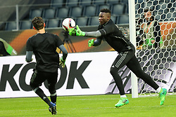 May 23, 2017 - Stockholm, Sweden - Ajax's English goalkeeper Andre Onana during a training session at The Friends Arena ahead of the UEFA Europa League Final between Ajax and Manchester United at Friends Arena on May 23, 2017 in Stockholm, Sweden. (Credit Image: © Foto Olimpik/NurPhoto via ZUMA Press)