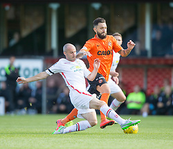 Inverness Caledonian Thistle's David Raven and Dundee United's Darko Bodul. Dundee United 1 v 1 Inverness Caledonian Thistle, SPFL Ladbrokes Premiership game played 19/9/2015 at Tannadice.