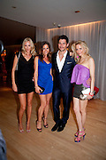 LISA HENREKSON; ANNA MACINERNY MARTINEZ; DAVID GANDY;  NATHALIE BOMGREN, An evening at Sanderson to celebrate 10 years of Sanderson, in aid of Clic Sargent. Sanderson Hotel. 50 Berners St. London. W1. 27 April 2010 *** Local Caption *** -DO NOT ARCHIVE-© Copyright Photograph by Dafydd Jones. 248 Clapham Rd. London SW9 0PZ. Tel 0207 820 0771. www.dafjones.com.<br /> LISA HENREKSON; ANNA MACINERNY MARTINEZ; DAVID GANDY;  NATHALIE BOMGREN, An evening at Sanderson to celebrate 10 years of Sanderson, in aid of Clic Sargent. Sanderson Hotel. 50 Berners St. London. W1. 27 April 2010