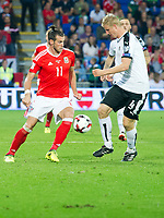 Football - 2017 / 2018 _Wales v Austria_FIFA World Cup Qualifier 2018<br /> <br /> Gareth Bale of Wales  attacks--- at Cardiff City Stadium.<br /> <br /> COLORSPORT/WINSTON BYNORTH