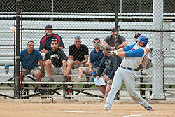 27 June 2014:   Camden Decker during a Mens Professional Fastpitch Softball game between the Central Illinois Knights from Villa Grove and the Bloomington Stix from Bloomington, played at O'Neil Park in Bloomington, Illinois