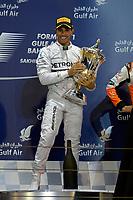 podium ambiance HAMILTON Lewis (Gbr) Mercedes Gp Mgp W05 Portrait during the 2014 Formula One World Championship, Grand Prix of Bahrain on April 6, 2014 in Sakhir, Bahrain. Photo Eric Vargiolu / DPPI
