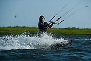 Outerbanks, NC - Bruna Kajiya Kiteboarding at the Triple-S 2011