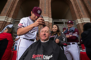 COLLEGE STATION, TX - FEBRUARY 08, 2020 -  during Texas A&M Aggies Baseball's Aggie Leadoff at Blue Bell Park in College Station, TX. Photo By Craig Bisacre/Texas A&M Athletics