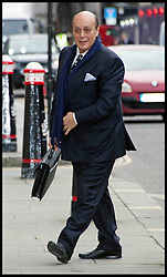 Asl Nadir arriving at the Old Bailey, London for the start of his trial today. Monday January 23, 2012. Photo by i-Images