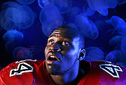 8 of 31<br /> 20060728 - TAMPA - Hillsborough fullback and defensive end Kasheif Steen, at the Florida Aquarium.<br /> STORY SUMMARY - Hillsborough County football tab.<br /> (Times photo by Brian Cassella)