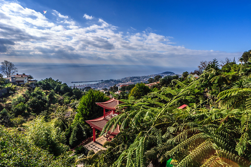 Monte Palace Tropical Garden in Madeira, Portugal.