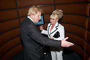 Boris Johnson; Barbara Windsor;  attend The Galleries of Modern London launch party at the Museum of London on May 27, 2010 in London. <br /> -DO NOT ARCHIVE-© Copyright Photograph by Dafydd Jones. 248 Clapham Rd. London SW9 0PZ. Tel 0207 820 0771. www.dafjones.com.