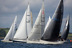 Largs Regatta Week 2017 <br /> <br /> Day 2 Class 3 Start with Excalibur, GBR7984T, Delta Blue, Wallace Cuthbertson, GBR4607, Leaky Roof 2, Alan Harper and 3361C, Salamander XXII, John Corson<br /> <br /> Picture Marc Turner