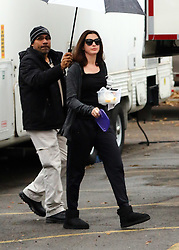 November 9, 2016 - New York, New York, United States - Actress Anne Hathaway was on the Brooklyn set of the new movie 'Ocean's Eight' on November 9 2016 in New York City  (Credit Image: © Zelig Shaul/Ace Pictures via ZUMA Press)