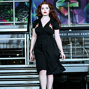 London, UK. 16th February, 2020. The LondonEdge 2020 Fashion show at Business Design Centre.