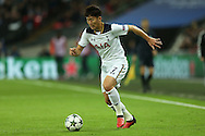 Son Heung-Min of Tottenham Hotspur in action. UEFA Champions league match, group E, Tottenham Hotspur v CSKA Moscow at Wembley Stadium in London on Wednesday 7th December 2016.<br /> pic by John Patrick Fletcher, Andrew Orchard sports photography.