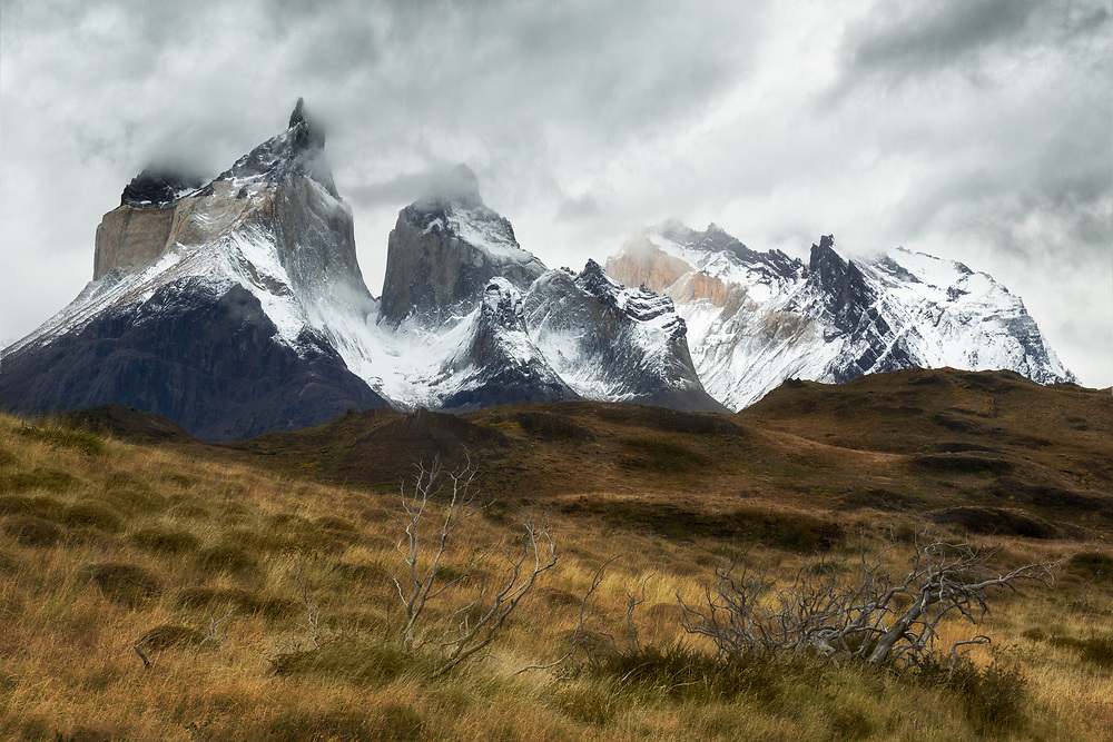 """Stormy day in Torres del Paine<br /> <br /> 18"""" x 12""""<br /> <br /> See Pricing page for more information.<br /> <br /> Please contact me for custom sizes and print options including canvas wraps, metal prints, assorted paper options, etc. <br /> <br /> I enjoy working with buyers to help them with all their home and commercial wall art needs."""