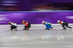 February 17, 2018 - Pyeongchang, Gangwon, South Korea - Yuri Confortola of Italy  competing  at Gangneung Ice Arena, Gangneung, South Korea on 17 February 2018. (Credit Image: © Ulrik Pedersen/NurPhoto via ZUMA Press)