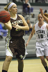 17 December 2011:  Kaitlyn Ray during an NCAA womens division 3 basketball game between the St. Francis Fighting Saints and the Illinois Wesleyan Titans in Shirk Center, Bloomington IL